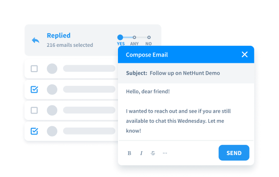 Send follow up email campaigns
