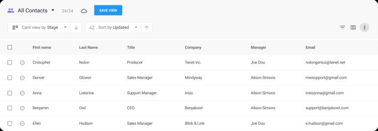 NetHunt CRM screenshot