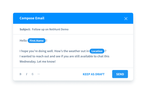 Compose and save email templates